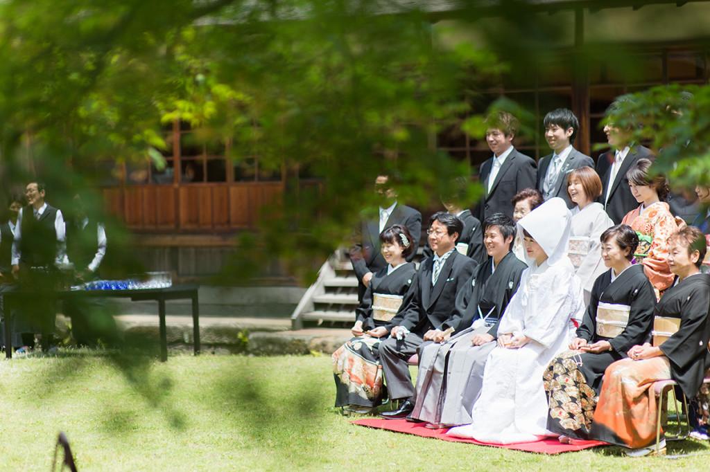 三溪園の結婚式で撮る家族写真