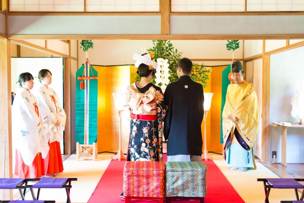 文化財である三溪園の挙式は和婚ならでは