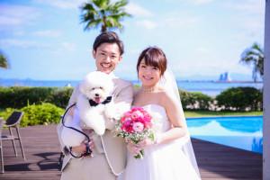 ペットと一緒に結婚式♪