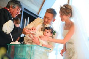 お子様も一緒の御結婚式*