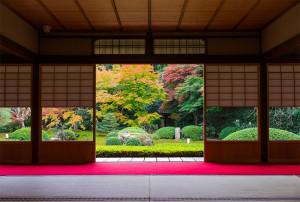 日本庭園で結婚式