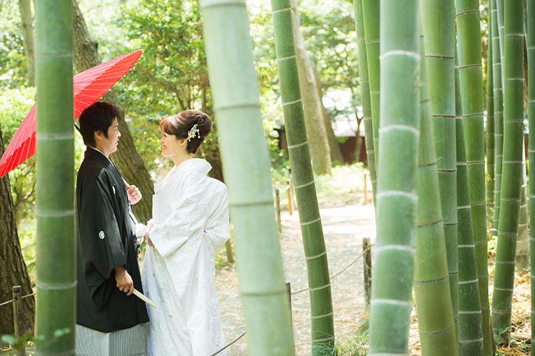 日本庭園の結婚式
