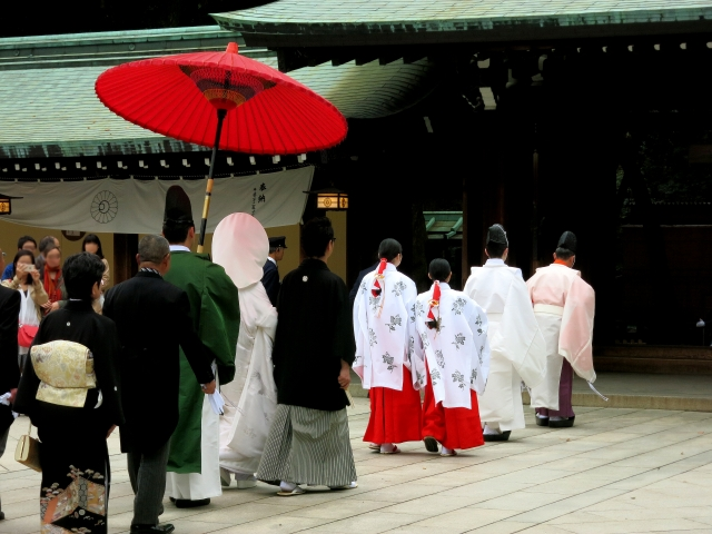 神社やお寺での和婚の挙式・披露宴の流れ