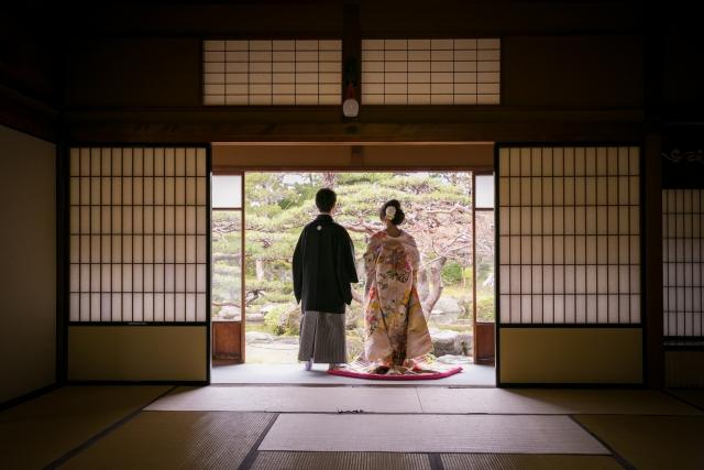 庭園・料亭での和婚の挙式・披露宴の流れ