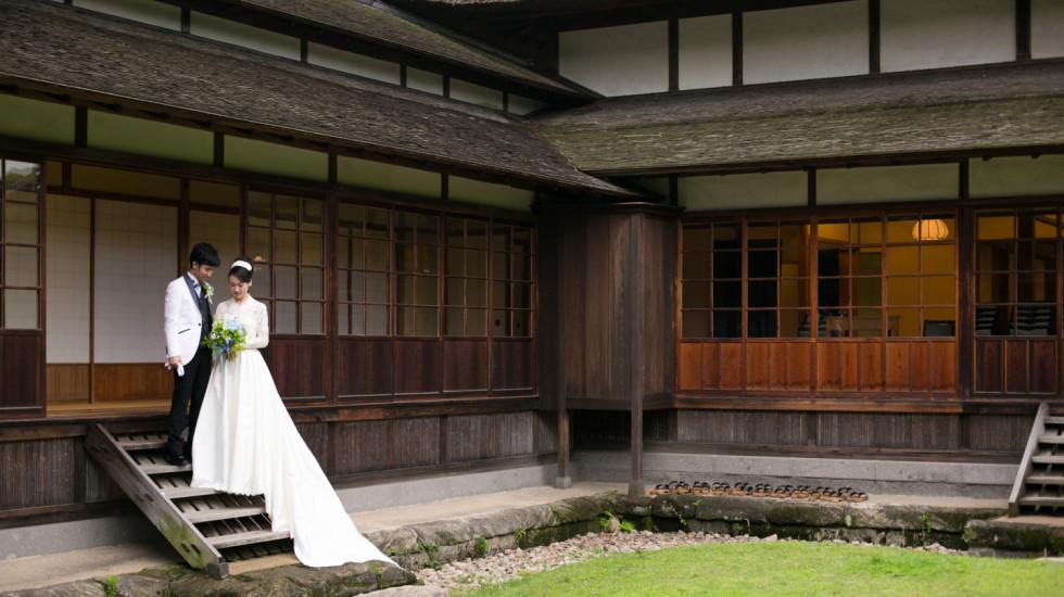 春の三渓園の結婚式