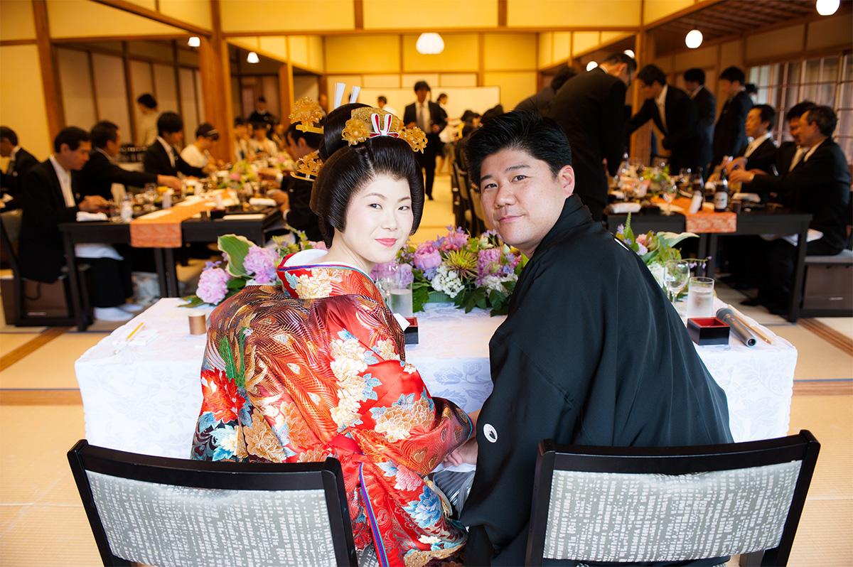 緑溢れる5月三渓園での結婚式