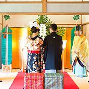 三溪園の神前結婚式
