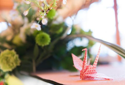 美しい紅葉と和の演出でゲストも楽しむ和婚