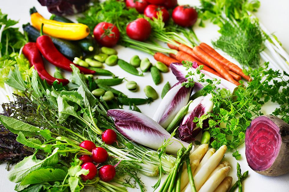 若松の新鮮野菜を使用