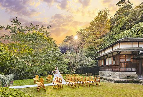 広大な日本庭園でガーデン挙式