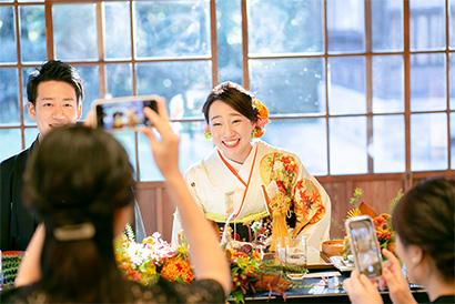 三渓園で結婚式を挙げられたお客様のインタビュー